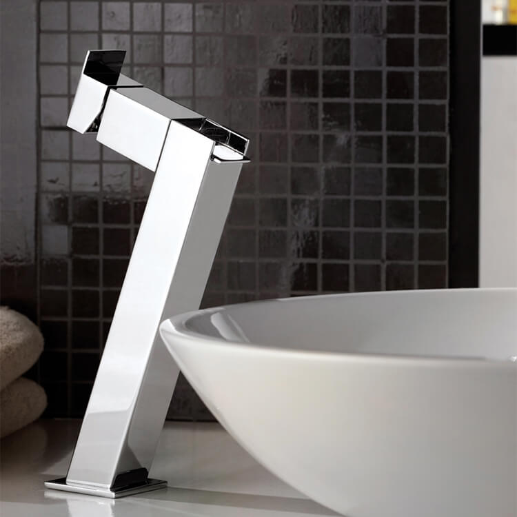 Bathroom Faucet, Remer ZC11LUS, Chrome Waterfall Vessel Sink Faucet