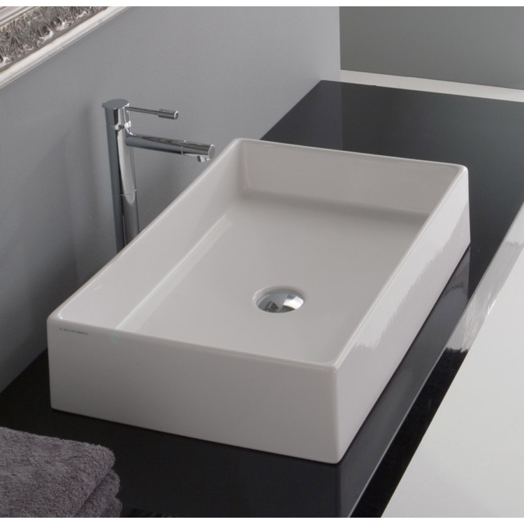 rectangular vessel bathroom sinks scarabeo 8031 60 bathroom sink teorema nameek s 20124