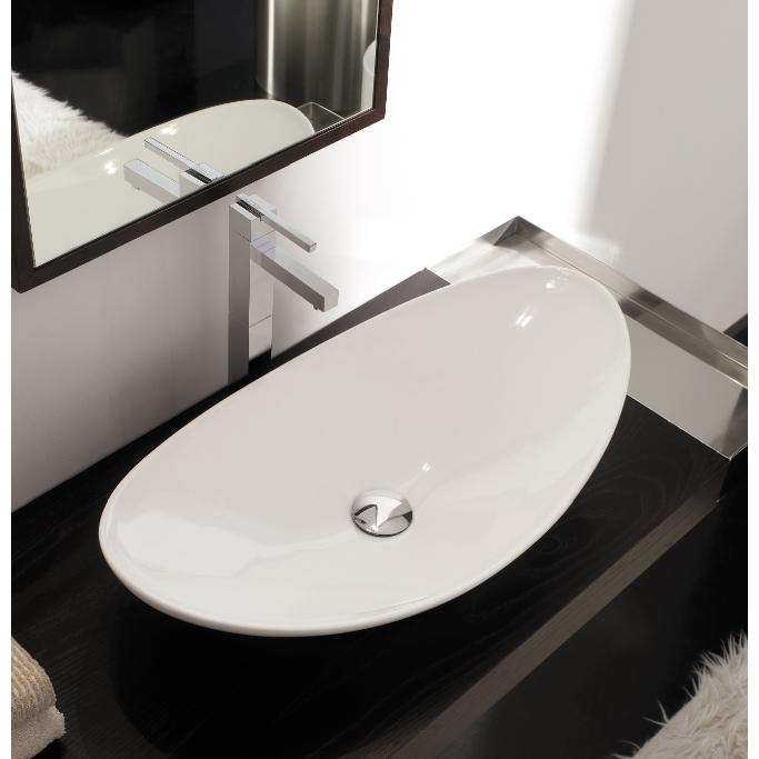 bathroom sinks. Bathroom Sink  Scarabeo 8206 Oval Shaped White Ceramic Vessel Zefiro Nameek S