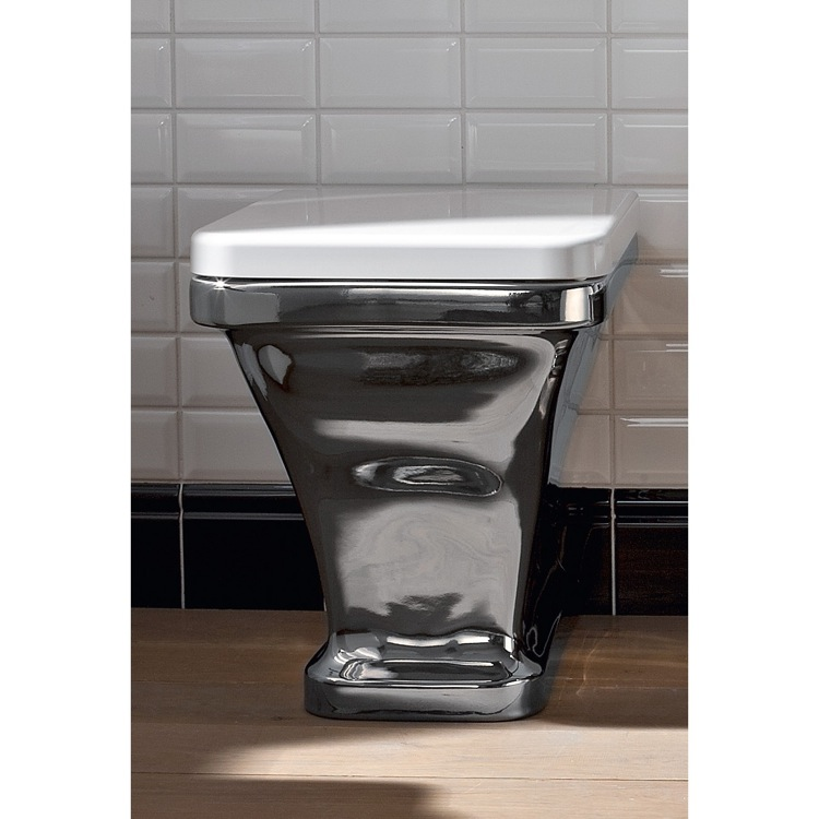 Toilet, Scarabeo 4008, White Modern Ceramic Floor Toilet