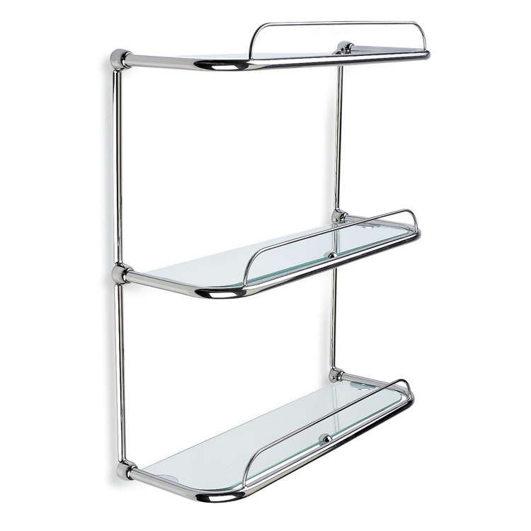 Bathroom Shelf, StilHaus 515, Triple Glass Bathroom Shelf