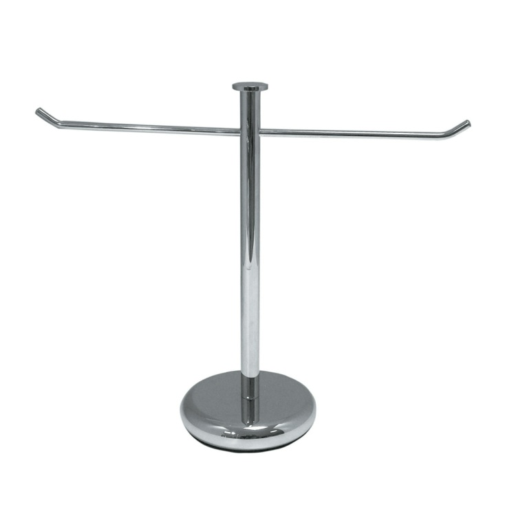 Towel Stand, StilHaus 900, Short Tabletop Brass Towel Stand