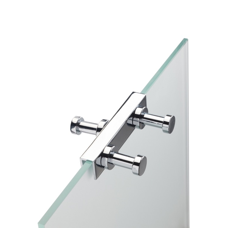 Robe Hook, StilHaus 985 08, Over The Shower Door Double Robe Hook