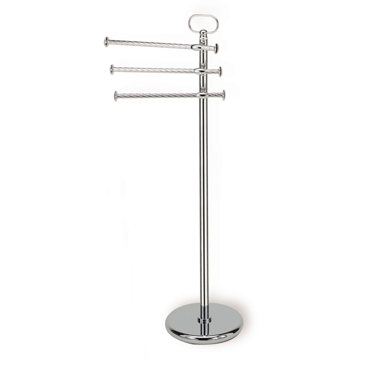 Towel Stand, StilHaus G696, Free Standing Classic-Style Brass Towel Stand