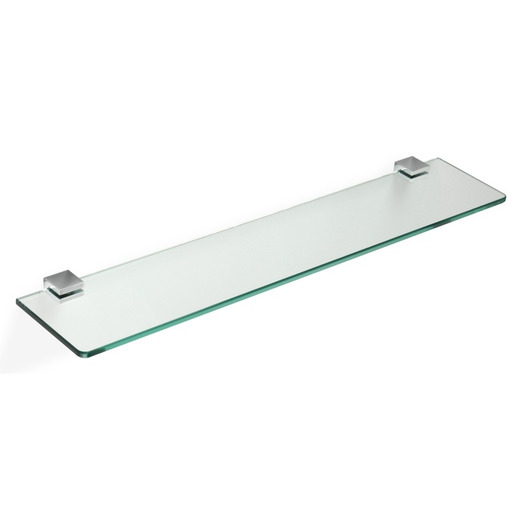 Bathroom Shelf, StilHaus GE04, 24 Inch Glass Bathroom Shelf