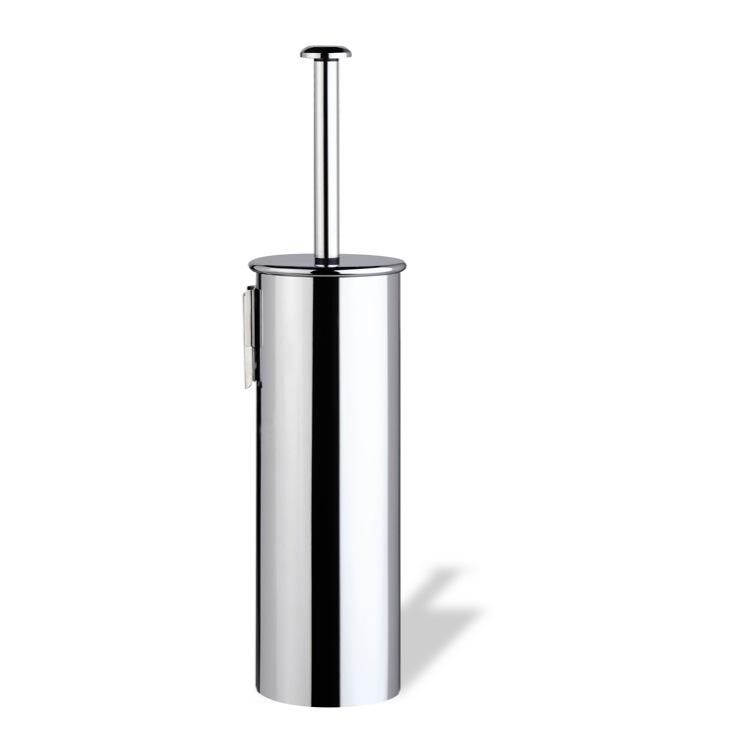 Toilet Brush, StilHaus H039M-08, Wall Mounted Rounded Chrome Toilet Brush Holder