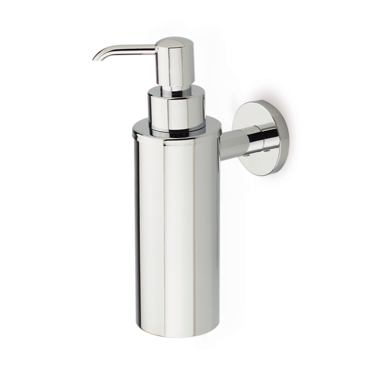 Soap Dispenser, StilHaus ME30, Wall Mounted Round Brass Soap Dispenser