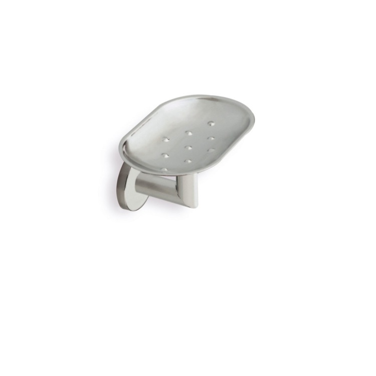 Soap Dish, StilHaus ME09M-36, Satin Nickel Wall Mounted Soap Dish