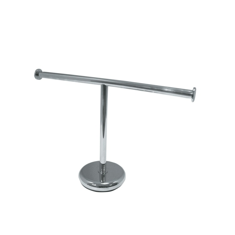 Towel Stand, StilHaus ME06 2 APP, Short Tabletop Brass Towel Stand