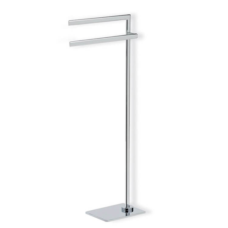 Towel Stand, StilHaus DI19-08, Chrome Free Standing Towel Stand