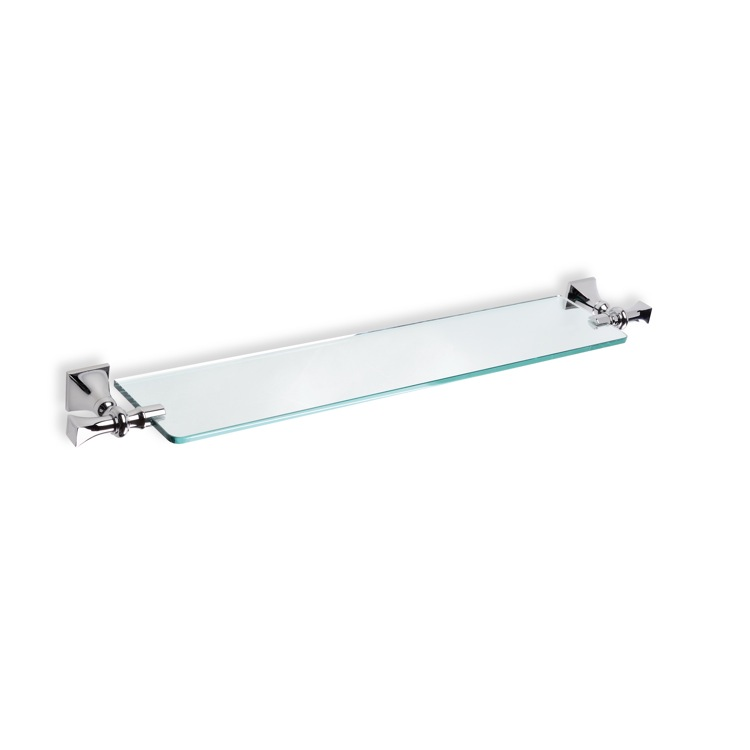 Bathroom Shelf, StilHaus PR04, Classic-Style Clear Glass Bathroom Shelf