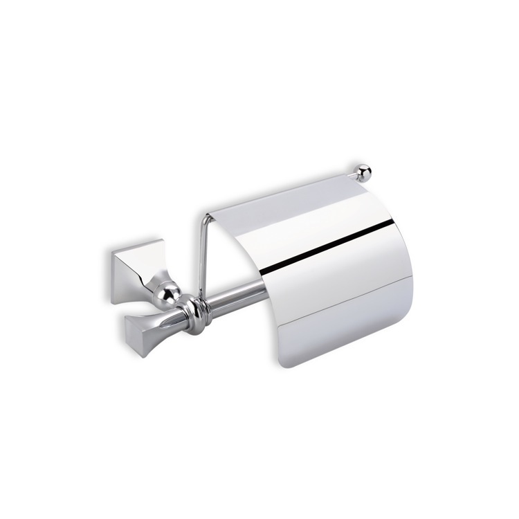 Toilet Paper Holder, StilHaus PR11C-08, Chromed Brass Toilet Roll Holder with Cover