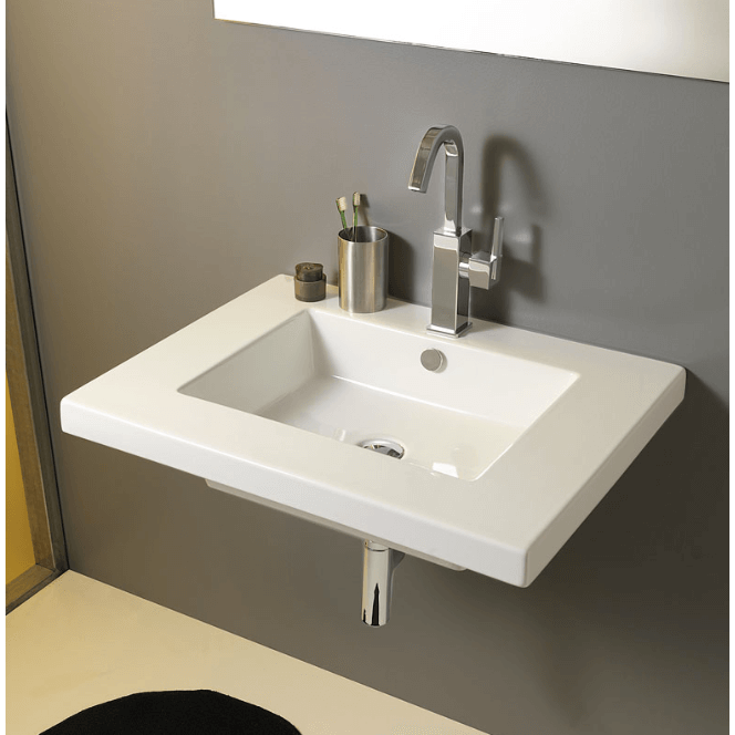 Tecla mar01011 bathroom sink mars nameek 39 s for Wall mounted bathroom countertop