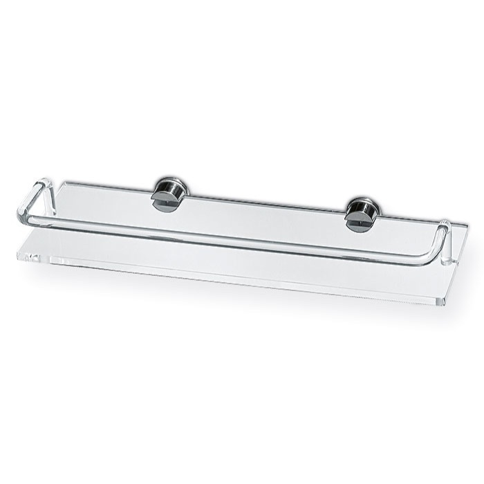 Bathroom Shelf, Toscanaluce 611, Plexiglass 16 Inch Bath Bathroom Shelf With Railing