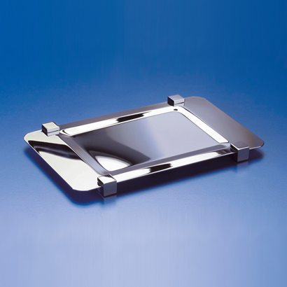 Bathroom Tray, Windisch 51217, Rectangle Metal Bathroom Tray Made in Brass