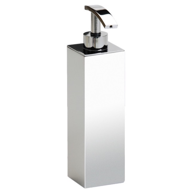Soap Dispenser, Windisch 90102, Tall Squared Chrome, Gold or Satin Nickel Bathroom Soap Dispenser