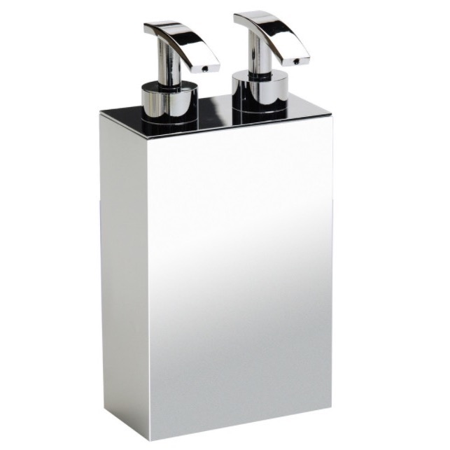 Soap Dispenser, Windisch 90104, Squared Chrome,Gold, or Satin Nickel Soap Dispenser with Two Pump(s)