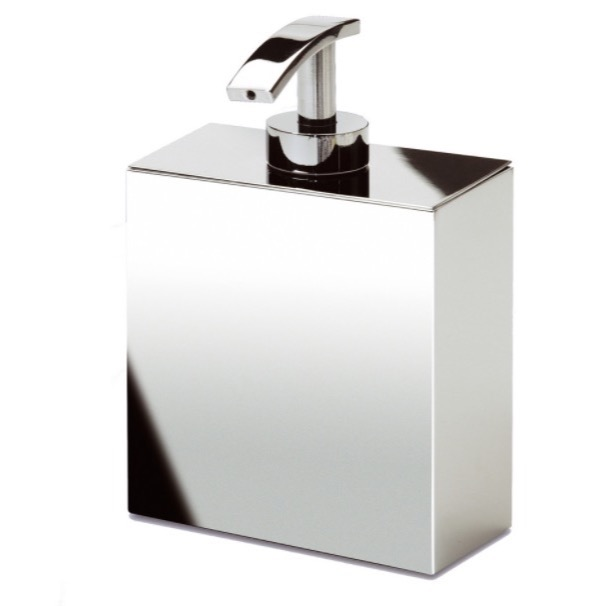 Soap Dispenser, Windisch 90121, Box Shaped Chrome, Gold, or Satin Nickel Wall Mounted Soap Dispenser