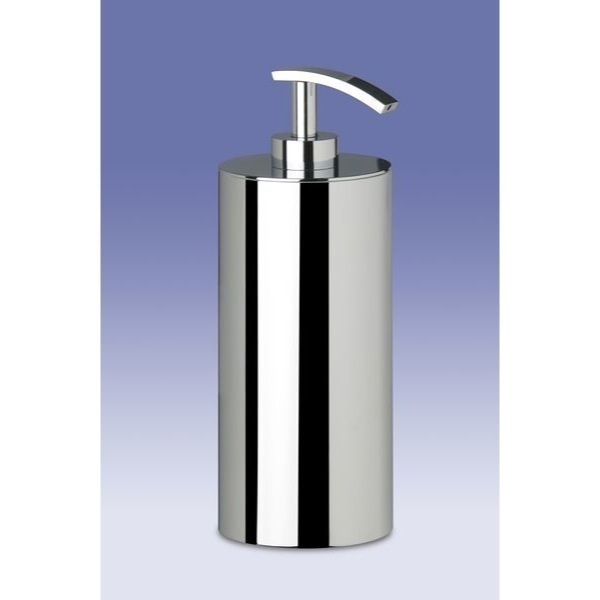 Soap Dispenser, Windisch 90203, Free Standing Brass Round Gel Dispenser