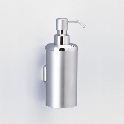 Soap Dispenser, Windisch 90427, Wall Mounted Rounded Brass Soap Dispenser