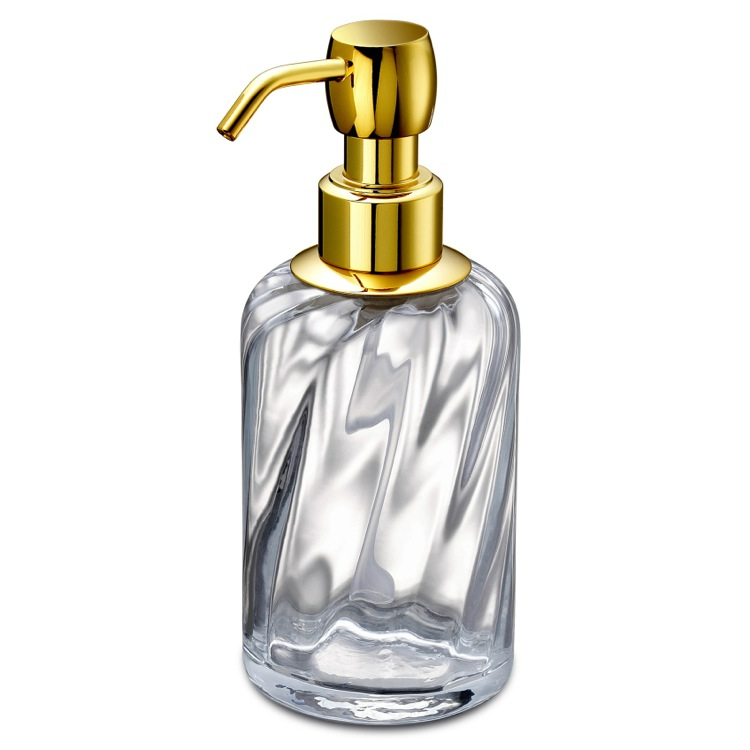 Soap Dispenser, Windisch 90801O, Soap Dispenser Made from Twisted Glass