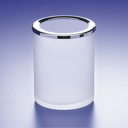 Toothbrush Holder, Windisch 91125M, Rounded Frosted Crystal Glass Toothbrush Holder