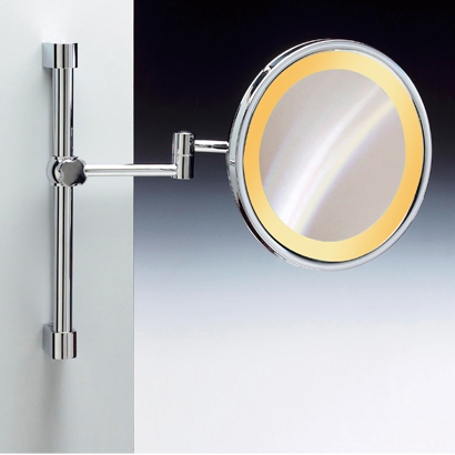 Makeup Mirror Windisch 99159 Wall Mounted Chrome Or Gold Round Lighted 3x 5x
