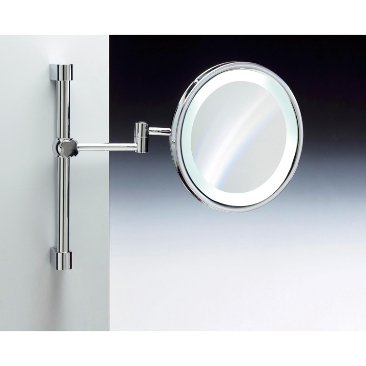 Makeup Mirror Windisch 99289 Wall Mounted Br Led With 3x 5x Magnification